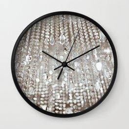 Crystals and Light Wall Clock