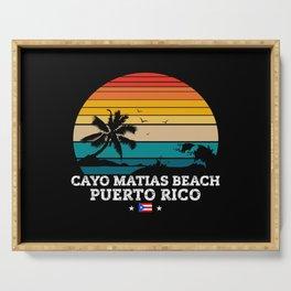 Cayo Matias Beach PUERTO RICO Serving Tray