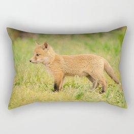 Daydreaming Baby Fox Pup Animal / Wildlife Photograph Rectangular Pillow