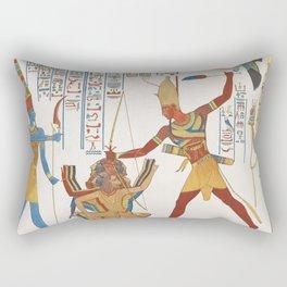 Vintage Egyptian gods artwork Rectangular Pillow