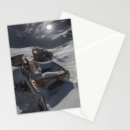 Old abandoned trucks in Jawbone Stationery Cards
