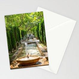Fountain in the gardens of Almudaina - Palma de Mallorca, Spain Stationery Cards