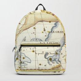 Vintage Print - J Flamsteed - Atlas Celeste (1776) - Monoceros & Canis Major Backpack