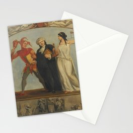 Archibald Henning - Portrait of Renton Nicholson with Allegorical Scenes and Figures (1850s) Stationery Cards