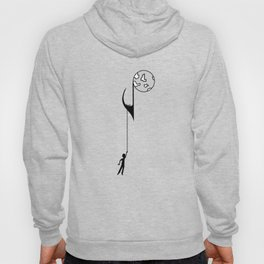 Man hanging on a musical note Hoody