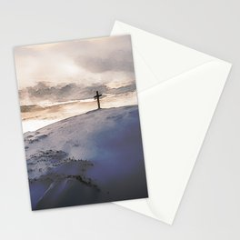 Christian Cross On Mountain Stationery Cards