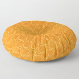 Retro Tangerine Print / Geometric Pattern Floor Pillow