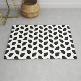 Black Strawberries Rug