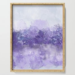 Choppy Purple Ocean Water Serving Tray