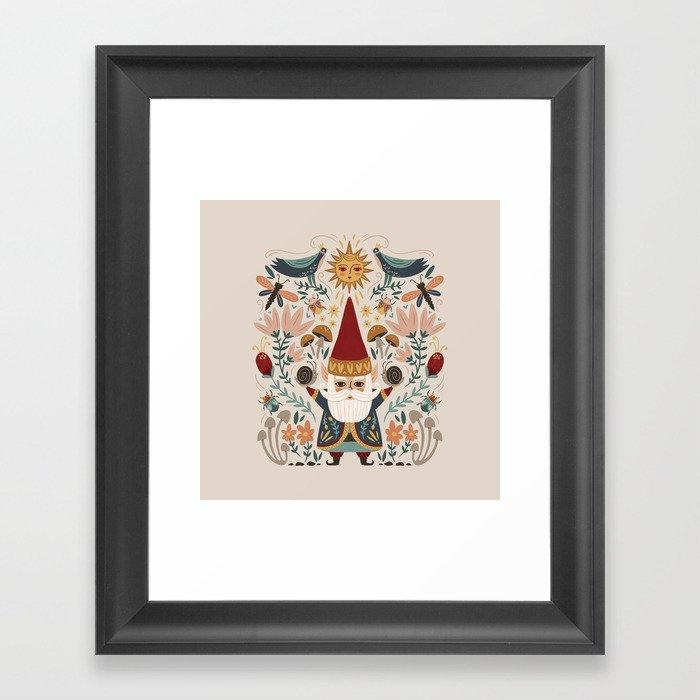 Gnome Life Gerahmter Kunstdruck