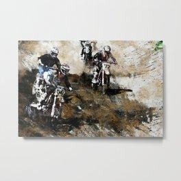 """""""Dare to Race"""" Motocross Dirt-Bike Racers Metal Print"""