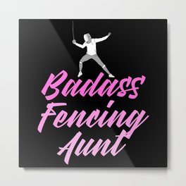 badass fencing aunt Metal Print