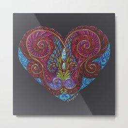 Heart Totem Metal Print