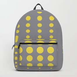 Reduced Polka Dot Pattern Pairs To 2021 Color Pantone 2021 Color Of The Year Illuminating and Ultimate Gray Backpack