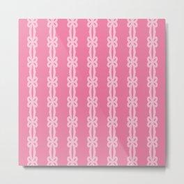 Flower Ribbon Pattern Metal Print
