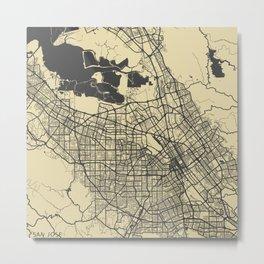 San Jose map Metal Print
