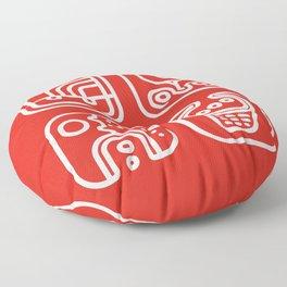 Mayan Glyphs ~ ABSTRACT Floor Pillow