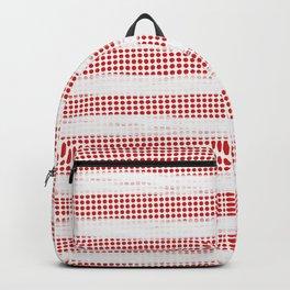 Red Diamonds Gross Stripes Backpack