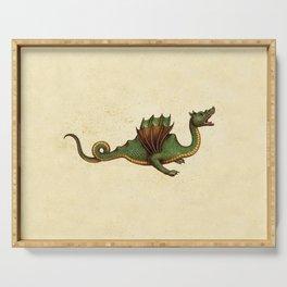 Medieval Green Dragon Serving Tray