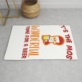 It's The Most Wonderful Time for A Beer Funny Christmas print Rug