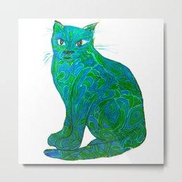 Fauvist Cat Metal Print