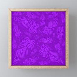 Leaves V2 PURPLE2 Framed Mini Art Print