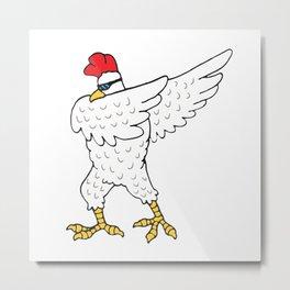 Dabbing Chicken Cool Gift Idea Metal Print