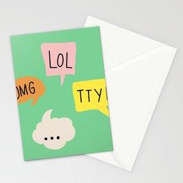 LOL, OMG,TTYL ... Stationery Cards