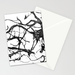 Black neurons Stationery Cards