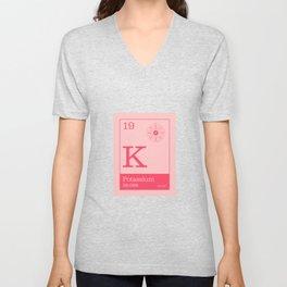 Periodic Elements - 19 Potassium (K) Unisex V-Neck