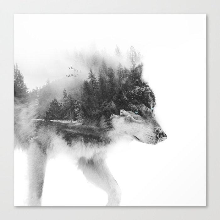 Wolf Stalking Leinwanddruck