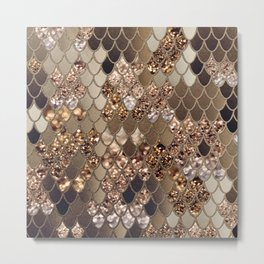 Mermaid Glitter Scales #6 #shiny #decor #art #society6 Metal Print