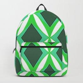 Retro 1960s Geometric Green Pattern Backpack