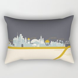 """City on a """"Plate"""" (Dusk) Rectangular Pillow"""