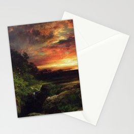 Sunset at the Grand Canyon landscape painting by Thomas Moran Stationery Cards