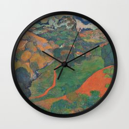 Charles Laval - Landscape on Martinique - Digital Remastered Edition Wall Clock
