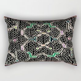 Song for Good Work - Traditional Shipibo Art - Indigenous Ayahuasca Patterns Rectangular Pillow