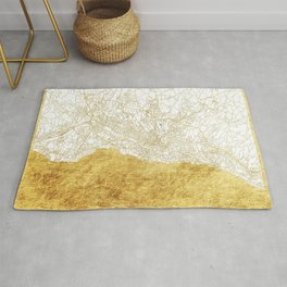 Lausanne Map Gold Rug