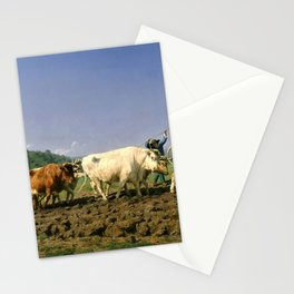 Rosa Bonheur - Plowing Nivernais - Digital Remastered Edition Stationery Cards