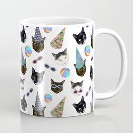 Festive Birthday Cat Party Coffee Mug