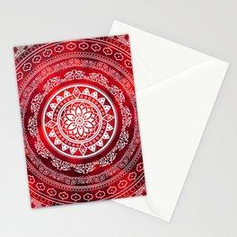 Mandala Scarlet Destiny Spiritual Zen Bohemian Hippie Yoga Mantra Meditation Stationery Cards