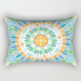 Mandala en azules Rectangular Pillow