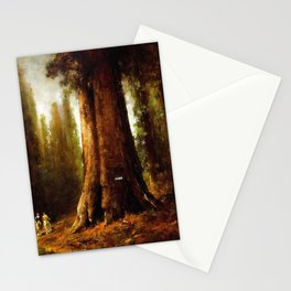 California Redwood Trees by Thomas Hill Stationery Cards