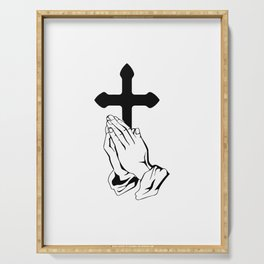 Jesus christ design for christianity christian Serving Tray