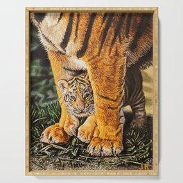 baby tiger cub Serving Tray