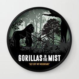 Gorillas in the Mist - Alternative Movie Poster Wall Clock