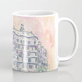 Barcelona Gaudi Houses Casa Batllo and Casa Mila Coffee Mug