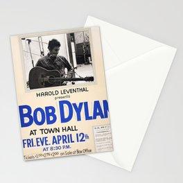 Vintage 1963 Bob Dylan Concert Poster Stationery Cards