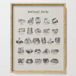 National Parks Alphabet Serving Tray