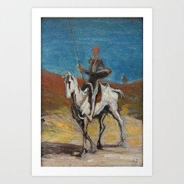 Honore Daumier - Don Quijote and Sancho Panza Art Print